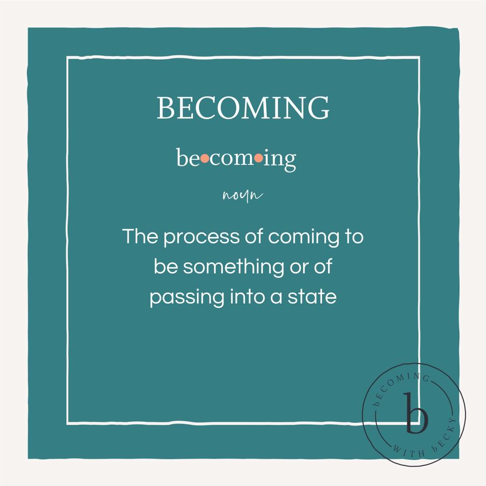 becoming definition
