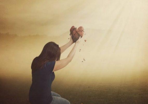 reaching up giving heart