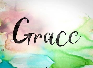 grace word water color