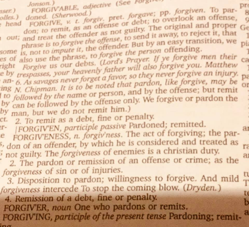 forgiven in the scriptures