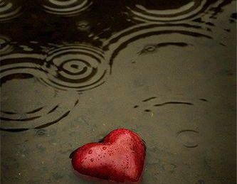 forgiven heart in rain