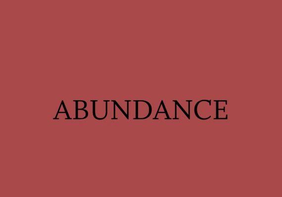 abundance word